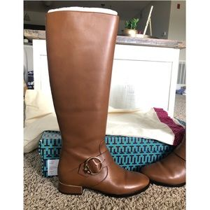Tory Burch Leather Boots Size 6